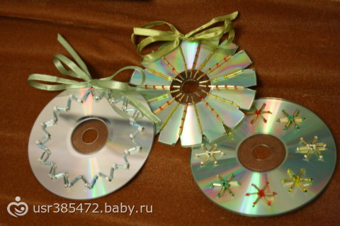 Сделать поделку из дисков