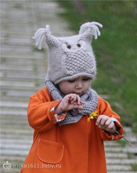 Очаровательный Гиацинт 2013 вязаный женский берет спицами ВЯЗАНИЕ. детские шапки спицами крючком