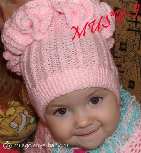 Вязание детские шапочки для девочки