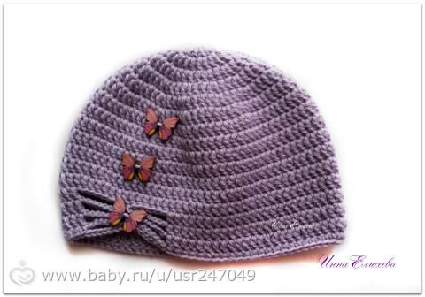 Весенний комплект для девочки+шапочка,крючком)) - Рукоделие - на бэби.ру