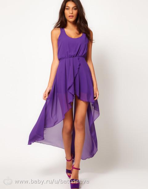 Купить платья с удлинением сзади