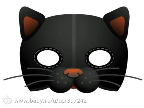 Как сделать маску котенка из бумаги