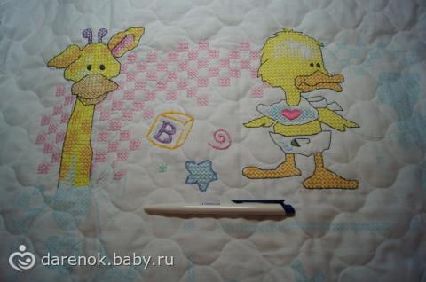 Одеялко для малыша готово)
