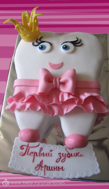 Торт на заказ зуб