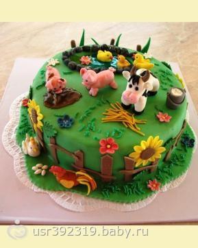 Торт с фермой фото