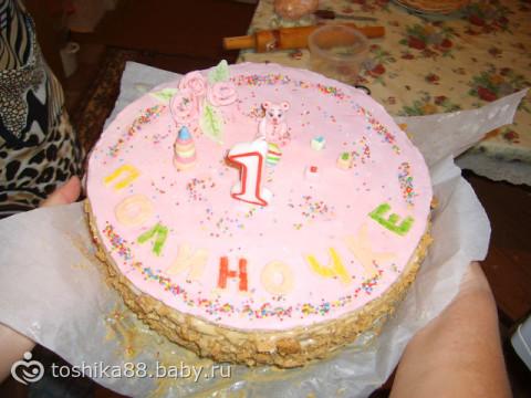 рецепт торт девочке на 1 год