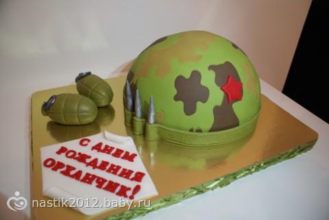 фото тортов в армию