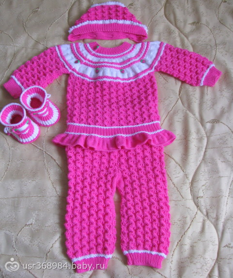 Вязание на девочек костюмы 6 месяцев