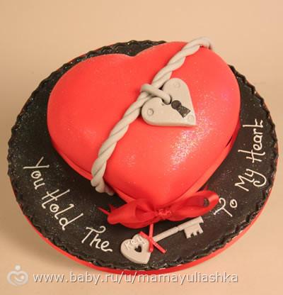 Фото тортов для праздника валентина