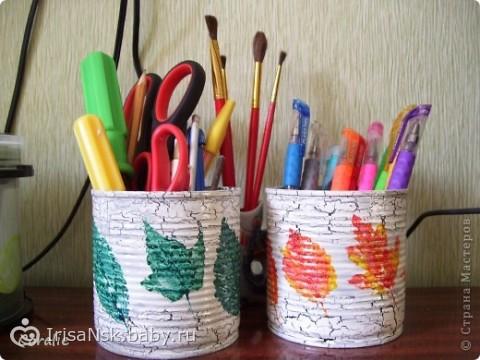 Как своими руками сделать банку для карандашей