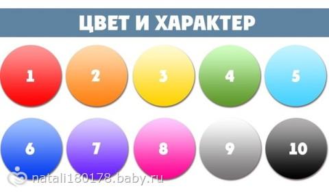 характер по цветам: