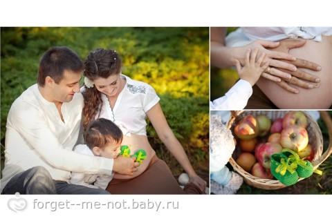 Фотосессия для беременных с мужем и ребенком фото 27