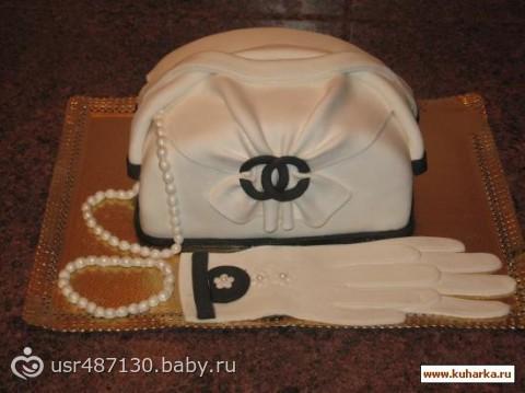 Торт дамская сумочка фото