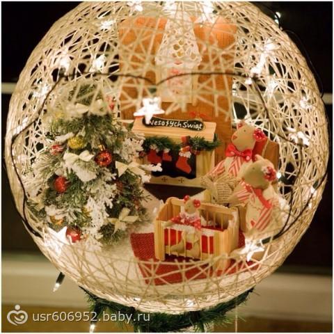 Поделка новогодний шар своими руками фото