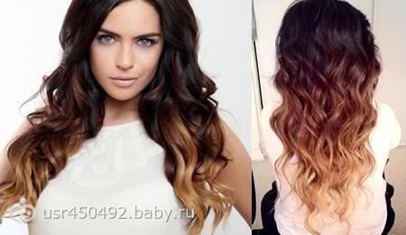 Виды окрашивания волос: омбре, шатуш, балаяж - фото