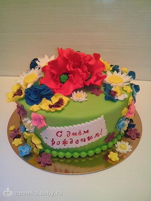 торты с цветами фото: