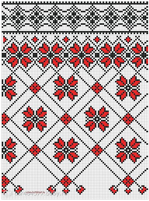 Коллекция из 16 схем вышивки