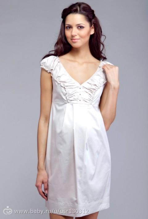 Выкройка простого летнего платья для беременных без рукавов. . . Выкройки платьев онлайн в клубе