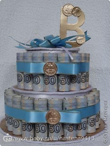 Подарок к юбилею торт из денег