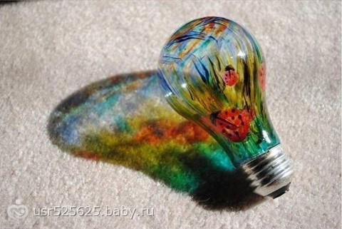 Как сделать разноцветную лампочку