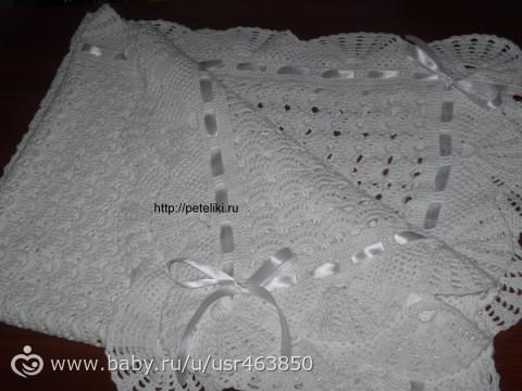 Связать одеяло на выписку своими руками