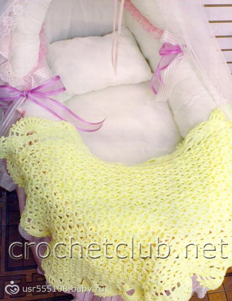 Что связать новорожденному одеяльце