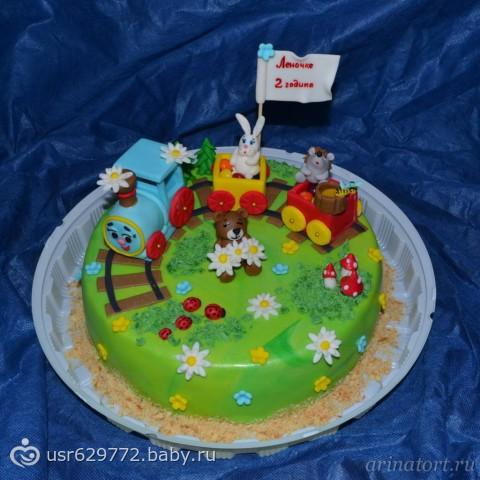 Торт с паровозиками фото