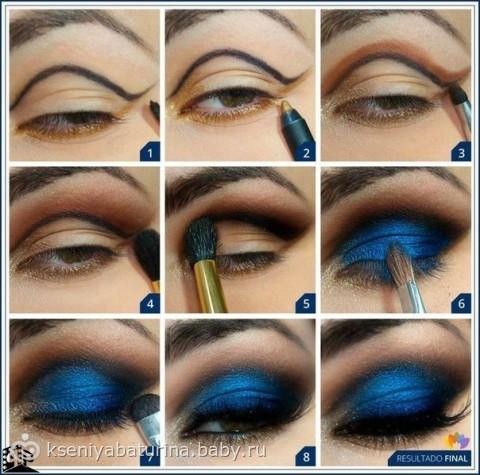 Как сделать пошаговый макияж для карих глаз