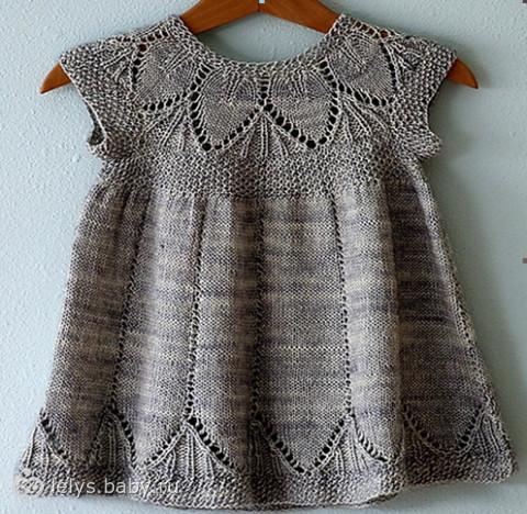 платья детские вязаные для малышей