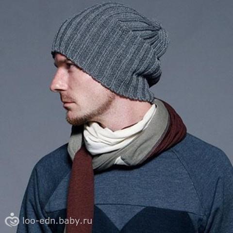 мужские вязанные шапки