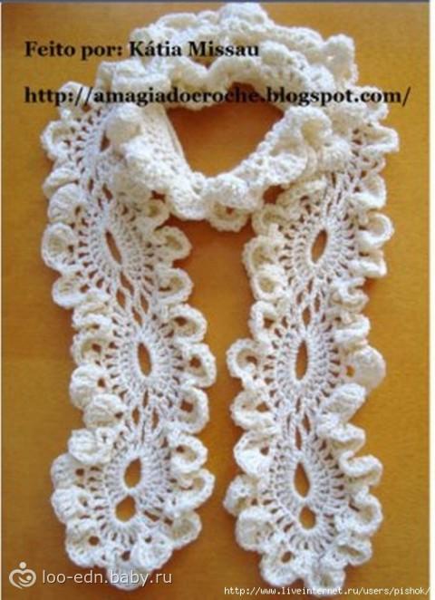 Свитера женские вязание. вязаный ажурный шарф крючком схемы, Ажурный шарф крючком Вязание крючком, Шарфы