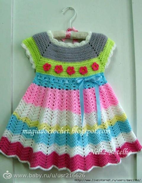 Очень понравились эти вязаные летние платья и сарафаны и детские и для взро