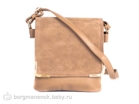 Женская сумка через плечо из качественого кожезаменителя LALEVATA (ЛАЛЕВАТА) WZ8124-1-cream.