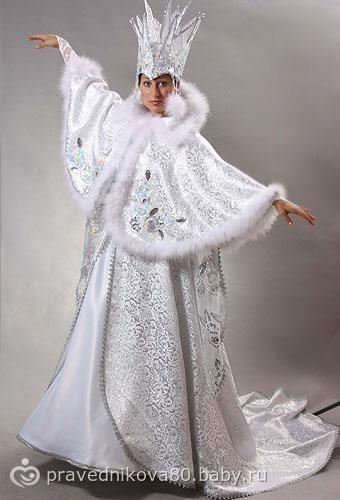 Наряд снежной королевы своими руками