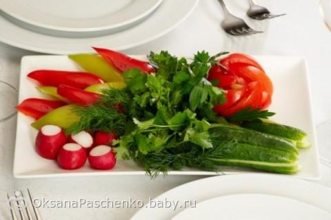 Красивое оформление овощных нарезок