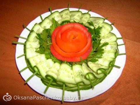 Овощная тарелка оформление в домашних условиях пошагово