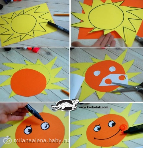 Поделки сделать солнце