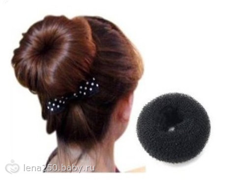 Как сделать шишку из пончика для волос