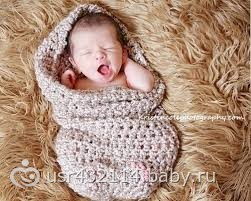 Вязание конверт на новорожденного