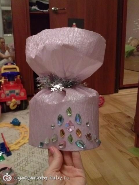 Как сделать из бумаги шапку конфету