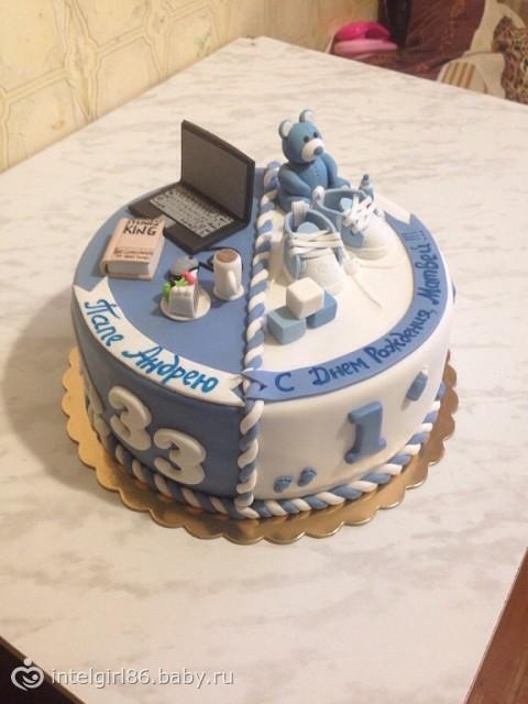 Фото тортов для папы и мамы