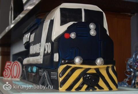 Торт в виде поезда фото