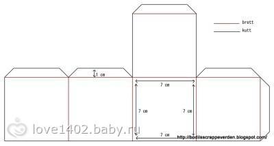 Шаблоны коробочки из картона своими руками