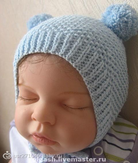 Вязаные шапочки для мальчика. азбука вязания спицами для новорожденных