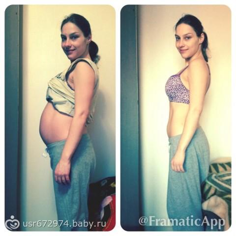 Фото живота через неделю после родов