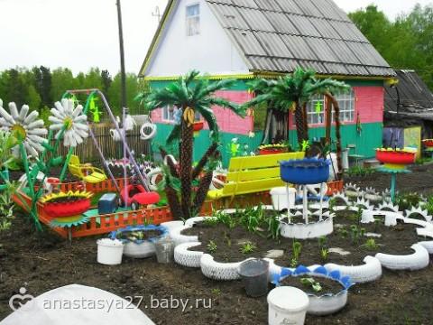 Украшаем двор подручным материалом своими руками