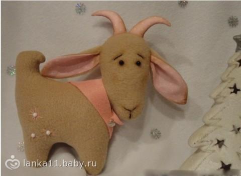 В РАМКАХ ПРЕДНОВОГОДНЕГО МАРАФОНА - шьем символ наступающего года синюю козу - МК - Рукоделие