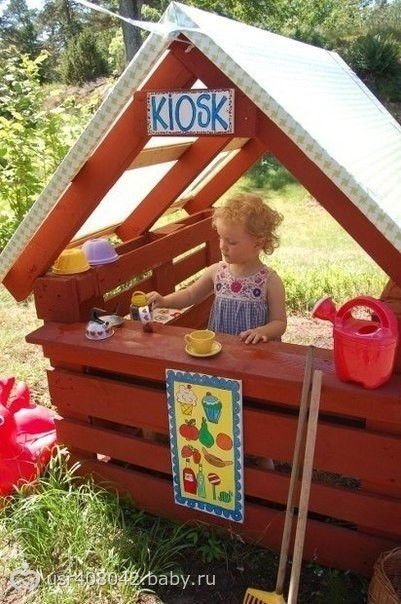Домик из паллет для детей