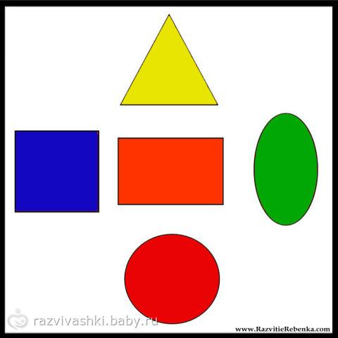 знакомство с геометрическими фигурами треугольник прямоугольник круг
