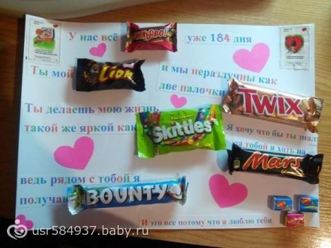 На ватмане с конфетами своими руками